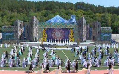 Торжественное мероприятие, посвященное 10-летию признания Независимости Республики Южная Осетия, г. Цхинвал, Республика Южная Осетия